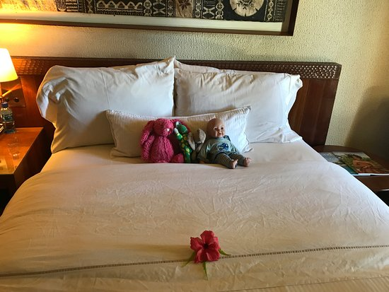 The Westin Denarau Island Resort & Spa Fiji: They made sure the toys were comfy when the made up the beds