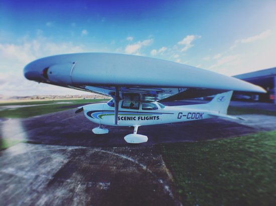 Our Cessna 172 fits 3 passengers and a pilot  Its high wing design