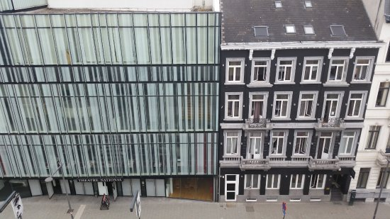 2Go4 Grand Place : Check-in location, dark gray, house looking building.