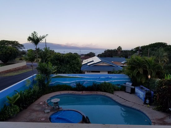 Wai Ola Vacation Paradise: This was the view from the lanai just before sunup.