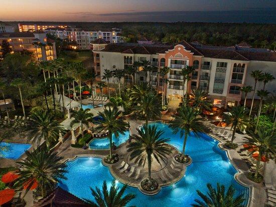 Marriott's Grande Vista: Aerial - Village Center Outdoor Pool