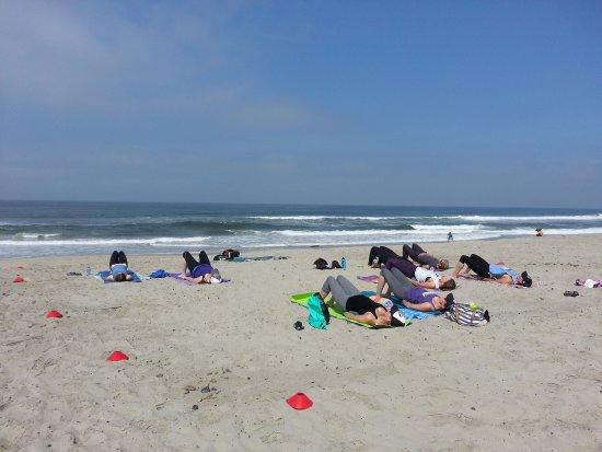 Perfect Balance Fitness: Carlsbad, CA Beach Yoga   South Ponto Beach