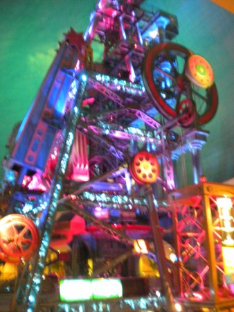 Silver Legacy Resort and Casino: Large Neon Colored Mining Tower Display