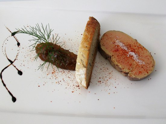 La Sauvetat sur Lede, France: médaillon de foie gras de canard IGP Sud-ouest