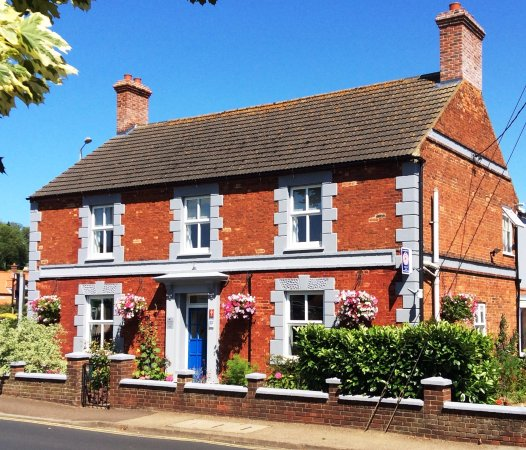 Dersingham, UK: Everyone knows the front of the house. Our superb double glazing makes it super quiet inside.