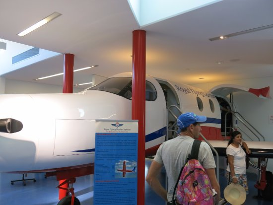 Royal Flying Doctor Service Tourist Facility: Inside view of their aircraft
