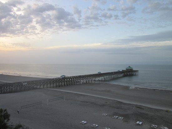 Lovely sunrise view of the pier picture of folly beach for Folly beach fishing