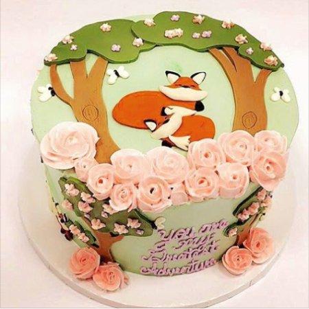 Gainesville, VA: Woodland Themed Baby Cake