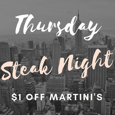 Goose Blind Grill & Bar : Steak Night THURSDAY