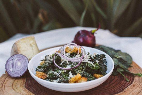 Luna Red: seasonal kale caesar salad