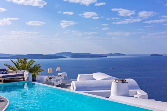 Kalyves, Greece: Swimming pool with a view