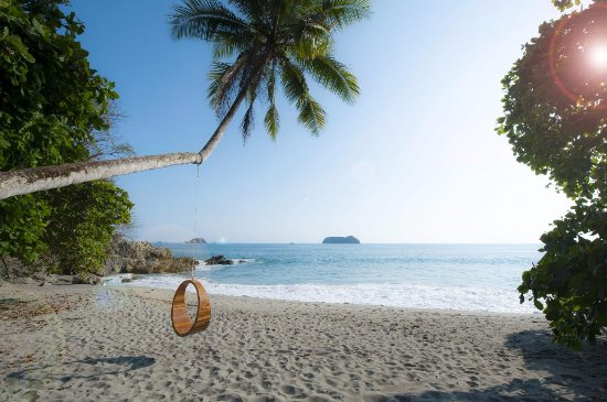 Arenas del Mar Beachfront & Rainforest Resort: Our private Playitas Beach ft. floating tree swing siesta spot