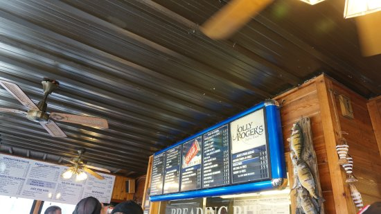 menu board at the jolly roger restauant port clinton may 2017