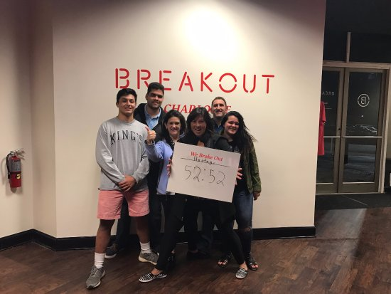 Breakout Games - Charlotte: We made it!!!