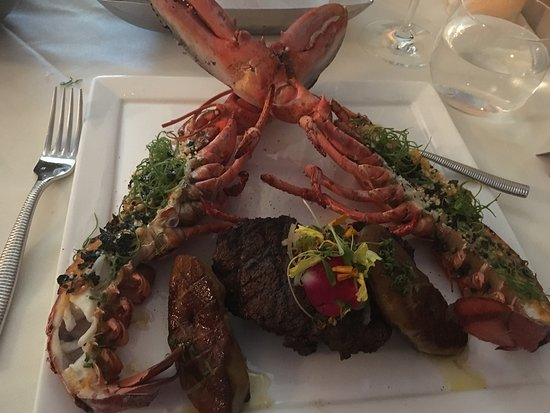 Cupertino, CA: Fillet Mignon with lobster