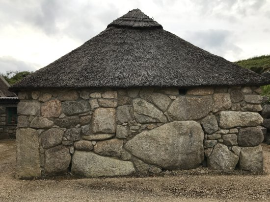 Cnoc Suain: One of the 17th century thatched roof stone cottages
