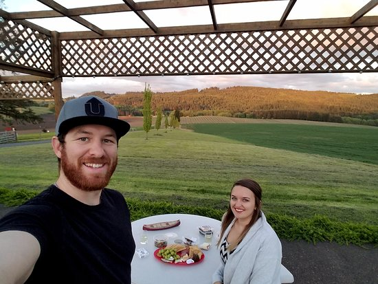 Carlton, OR: Patio overlooking the farm!