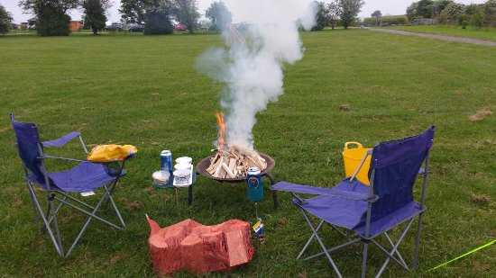 Cauldon Low, UK: Getting the fire going