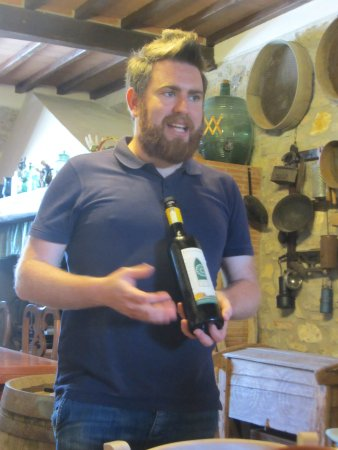 Wine Tours with Italy and Wine: Local guide at Cappella Sant 'Andrea (Philippe?)