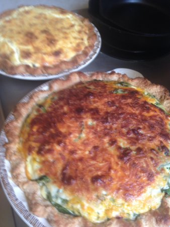 Central City, CO: Home made lard crust quiche!