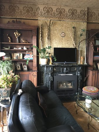 Central City, CO: Front parlor, wallpaper is original 1875 paper I exposed!
