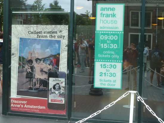 Maison Anne Frank : Anne Frank House : Sign at entrance