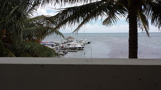 Corona del Mar Hotel & Apartments: Looking out towards the barrier reef.