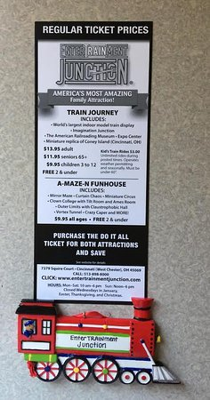 Ticket price - Picture of EnterTRAINment Junction, West