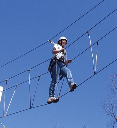 Sandstone, Μινεσότα: Adventure and Challenge programs, such as our Skywalk High Ropes course