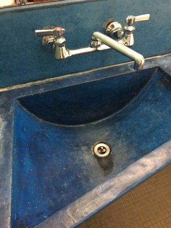 Omega Institute : The bathroom sink in my cabin room.  Disgraceful!