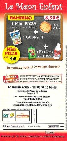 Le Taillan-Medoc, Francia: Plaquette verso
