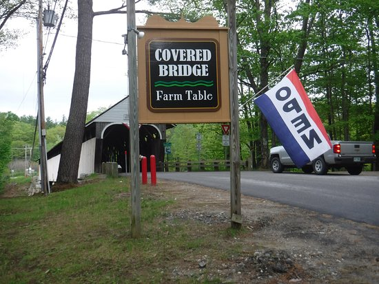 Covered Bridge Farm Table: The Blair Covered Bridge was one of the best parts of the experience.