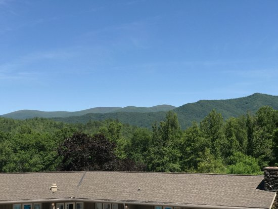 Fontana Dam, NC: View of the mountains from the Lodge balcony