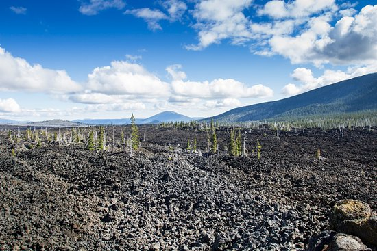 Blue River, OR: Dee Wright Observatory lava flow