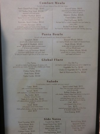 Painted Post, NY: Lunch and dinner menu