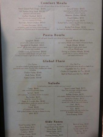 Painted Post, Estado de Nueva York: Lunch and dinner menu