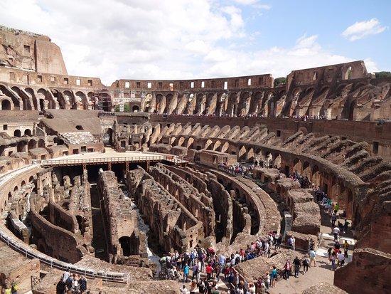 colosseum inside is enormous like 3 football fields