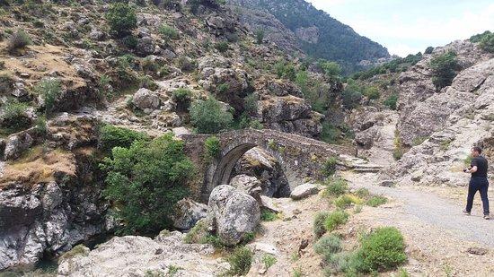Asco, Francia: Le pont génois