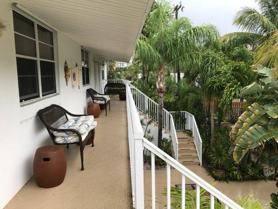 Sunshine Shores Resort: From 2nd floor room front door.