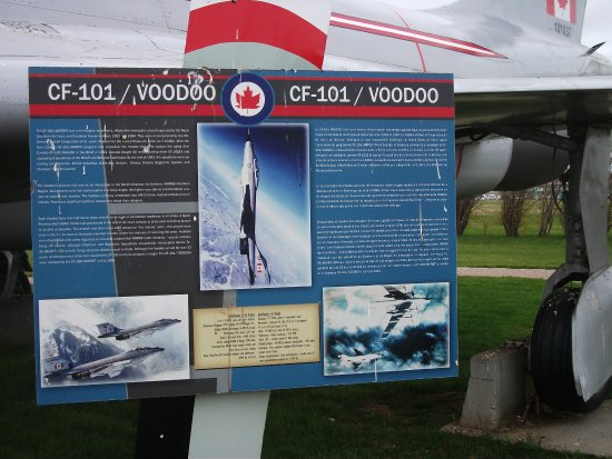 Slemon Park Historical Aircraft Static Display: Plaque explaining about the Voodoo