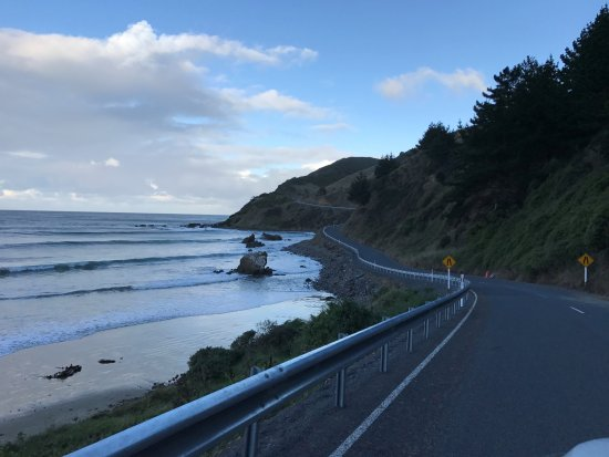 The drive towards the Nugget Point is quite an unique experience
