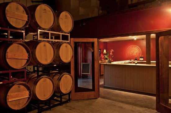 Creston, CA: Tasting and barrel rooms at Chateau Margene