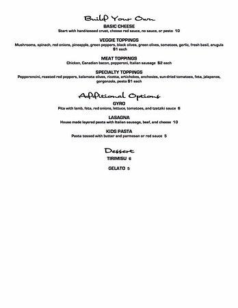 Bigfork, MT: Lunch Menu Pt. 2