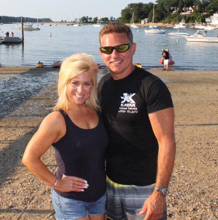 Cold Spring Harbor, NY: Theresa Caputo (Long Island Medium) with Joe after show taping
