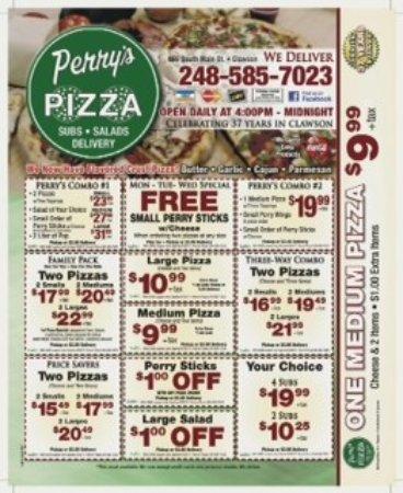 perry 39 s pizza clawson ristorante recensioni numero di telefono foto tripadvisor. Black Bedroom Furniture Sets. Home Design Ideas