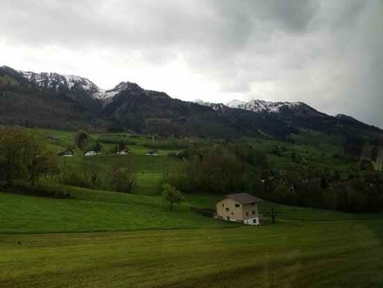 Sachseln, Switzerland: View of mountains outside of hotel