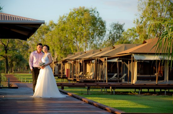 Mary River National Park, Australia: A white wedding at Wildman Wilderness Lodge.