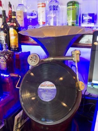 Howell, MI : Victrola Record Player. Ask your bartender about its secret