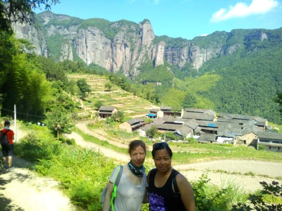 Xianju County, China: The old village on the top of the mountain