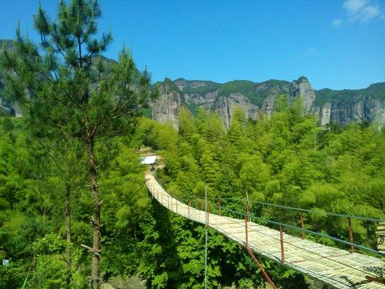 Xianju County, China: Hanging Bridge to cross the old village